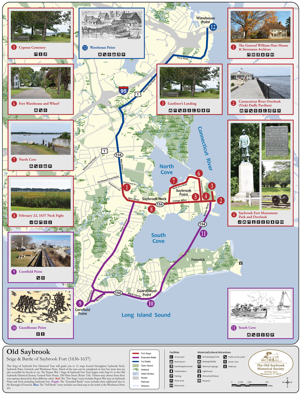 Seige & Battle of Saybrook Fort Map