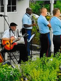 The US Coast Guard Dixieland Jazz Band in their third annual Old Saybrook Historical Society concert.
